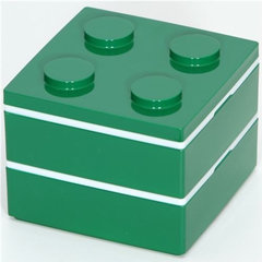 food containers and storage funny green Lego brick Bento Box from Japan
