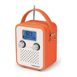 Crosley - Songbird Portable Radio, Orange - Tote around your tunes with the stylish Crosley Songbird Radio. Just pop in some batteries and carry your AM/FM radio anywhere you need to go. Features a PAR cable and an AC power adapter so you can plug-in as soon as you get to work or home. Turn the digital tuner to your favorite radio station or plug in your portable audio device and listen to music or talk shows on the radio's dynamic full-range speaker. No need to be fashionably late anymore. Wake up in style with the radio's alarm clock function. The Crosley Songbird Radio is available in different colors to suit your style scheme. Requires 2 cell batteries.