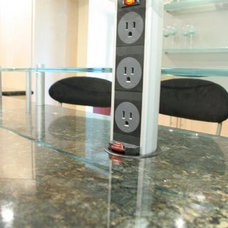 Contemporary Cable Management by Tangerine Designs Kitchens and Baths