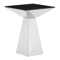 Zuo Modern - Zuo Modern Tyrell Table Short, Black - Painted tempered glass and stainless steel, the Tyrell coffee table instantly creates uptown decor within minutes.