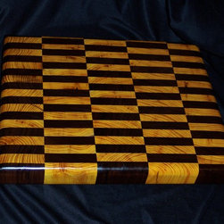 Cutting Boards - A smaller cutting board made from Osage Orange and Black Walnut