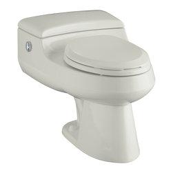 KOHLER - KOHLER K-3393-95 San Raphael Comfort Height Elongated 1.0 or 1.4 GPF Toilet - KOHLER K-3393-95 San Raphael Comfort Height One-Piece Elongated 1.0 or 1.4 GPF Toilet with Power Lite Flush Technology in Ice Grey