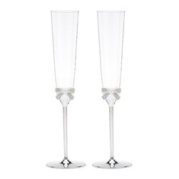 Grace Avenue Toasting Flute Pair - I'm in love with these adorable bubbly glasses.