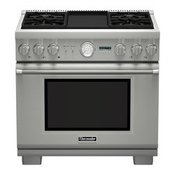 "Thermador 36"" Pro Grand Dual-fuel Range, Stainless Steel 