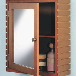 Organize It All - Medicine Cabinet in Teak - The medicine cabinet, from the Spa Collection, is a ...