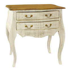 Antique Revival - Madilyn 2-drawer Distressed White Bureau - Whether its keepsakes,necessities,or both,this classic bureau is the perfect repository for them all. This piece works as a kitchen drawer,sock drawer,or even as a catchy,decorative piece in your living area.