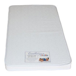 Colgate 3 in. Portable Firm Foam Crib Mattress - The Portable Crib Mattress - Mini Crib 3 in. Firm Foam Mattress brings big value in a small package. Covered with a double-layer tear-resistant laminated cover, this mini crib mattress is extra-comfortable and firm with 3-inch foam. This portable crib mattress fits both cribs and toddler beds. Dimensions: 38.5L x 24W x 3H inches.Additional Features:GREENGUARD Children & Schools CertifiedWaterproof reinforced white coverEasy to clean with damp cloth and mild soapCan be used on either sideAbout ColgateColgate is known for producing the highest quality crib mattresses in the country. Having received many industry awards, they're proud to be among the first members of the Juvenile Products Manufacturers Association. Colgate has been manufacturing crib mattresses in Atlanta, Georgia for over 55 years and they're proud to be a US manufacturer located in the heart of the south. Millions of Americans have started their lives sleeping on a Colgate crib mattress.