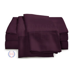 "ExceptionalSheets - 400 Thread Count - Egyptian Cotton Sheet Set by ExceptionalSheets - Our 100% Egyptian Cotton 400 Thread Count Sheet Sets are the perfect product for anyone looking for ultra-soft sheets that still maintain the durability and quality of high thread count luxury linens. These sheets will literally become softer and softer with every wash, so there is no limit to the amount of comfort that they will provide. They're available in multiple size ranges and colors making up almost 200 options! Whether the sheets are a gift for a friend or you are buying for yourself, you know you are getting top-quality luxury with Exceptional Sheets.  Egyptian Cotton: Why is Egyptian cotton so much better for your sheets? Quite simply, Egyptian cotton produces longer fibers (up to twice as long as a standard cotton fiber). The longer fibers or staples are easily spun into finer count yarns, and turned into the softest sheets you will ever sleep on. It's that simple! Single Ply: ""Ply"" refers to the number of yarns wrapped together in a single thread. The process of plying creates thicker threads, which will impact a sheet's feel and durability. Finer threads allow for higher thread counts and a softer sheet with an elegant drape. About the Company: Exceptional Sheets is a US veteran owned and operated family business that offers a wide-range of luxury bed and bath linens. Their lineup features Egyptian cotton bed sheets, duvet covers and pillow cases as well as other products like mattress toppers, goose down comforters, 5-star Egyptian cotton bath robes and towel sets. Exceptional Sheets mission is to provide customers with the highest quality Egyptian cotton sheet sets and bed linens in addition to top-notch customer service. We guarantee 100% product satisfaction and accept ""no questions asked"" returns for 100% refund or replacement."