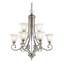 Kichler Lighting - Kichler Lighting KCH-43159-NI Monroe 9-Light Traditional Classic Chandelier - Kichler Lighting KCH-43159-NI Monroe 9-Light Traditional Classic Chandelier