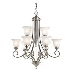 Kichler Lighting - Kichler Lighting 43159NI Monroe 9-Light Traditional Classic Chandelier - Kichler Lighting 43159NI Monroe 9-Light Traditional Classic Chandelier