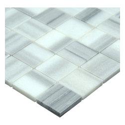 Stone & Co - Equator Marmara Marble Polished 2x2 Square Mosaic Tile - Finish: Polished