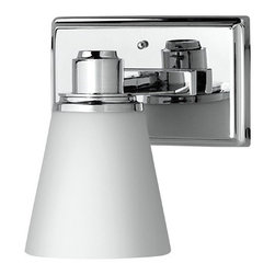 Linea di Liara - Linea di Liara Terracina  Vanity Sconce, Polished Chrome, One Light - The Terracina Vanity collection combines transitional elements with a elegant polished chrome finish. Frosted opal glass shades allow for radiant yet softened light. The collection is available in one and two light sconces or three and four light vanity fixtures.