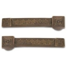 Amazon.com: Brass Elegans 34GK-AB Greek Key Carpet Holders Stair Rod: Home Impro