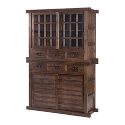 Tansu Cabinet Double, Natural Walnut