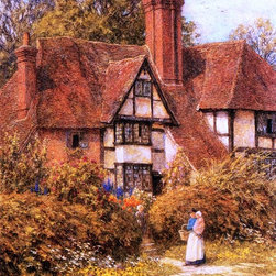 "Helen Allingham Manor House, Kent - 16"" x 24"" Premium Archival Print - 16"" x 24"" Helen Allingham Manor House, Kent premium archival print reproduced to meet museum quality standards. Our museum quality archival prints are produced using high-precision print technology for a more accurate reproduction printed on high quality, heavyweight matte presentation paper with fade-resistant, archival inks. Our progressive business model allows us to offer works of art to you at the best wholesale pricing, significantly less than art gallery prices, affordable to all. This line of artwork is produced with extra white border space (if you choose to have it framed, for your framer to work with to frame properly or utilize a larger mat and/or frame).  We present a comprehensive collection of exceptional art reproductions byHelen Allingham."