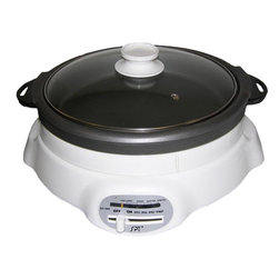 SPT Appliance - Shabu Shabu and BBQ Pan w Tempered Glass Lid - Whether you want to cook a traditional Asian style stew or an all-American hot dog, this Shabu Shabu and BBQ pan does the job nicely.  Quick to heat and energy efficient, it's a great alternative for singles and seniors.  Removable interior cooking vessel features a non-stick surface that makes cleaning up a cinch.  This ingenious pot also includes a grill pan and adjustable temperature control for ultimate versatility. Easy operation. Adjustable temperature regulator. 4.5 L capacity. Automatically controls the temperature level. Removable inner pot with easy clean non-stick surface. See through tempered glass lid. View the cooking process. Quick and energy efficient. Fast heating. ETL. Input voltage: 120V / 60Hz. Power consumption: 1200W. Pot: 11 in. Dia. x 3.5 in. D. Grille pan: 11 in. Dia. x 1.5 in. D. 14.4 in. W x 14 in. D x 7.7 in. H (10 lbs.)Features two inter-changeable inner pots, a 3.5 inch deep pot and grill pan. Offers versatile cooking for breakfast, lunch and dinner. Use the grill pan for sausages, egg, pancake, grilled seafood, poultry, steak and etc. Use the pot for delicious Shabu-Shabu or any soup-based dishes. Inner pots are removable for easy cleaning. Features easy to use sliding temperature control.