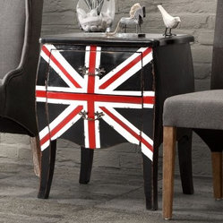 Zuo Modern Union Jack Small Cabinet - Distressed Black