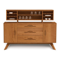 Copeland Furniture - Copeland Furniture Audrey Optional Hutch For Audrey Buffets 6-CAL-75-03 - The Kyoto dining room is crafted in solid American black walnut hardwood and finished with a low sheen (10 sheen) top coat.