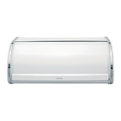 Brabantia Roll Top Bread Bin, Large, White