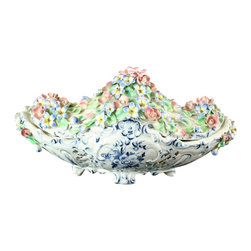 EuroLux Home - Consigned Vintage Italian Capodimonte Style Lidded - Product Details