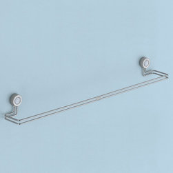 Gedy - 20 Inch Chrome Wall Mounted Towel Bar - A contemporary towel rail that is made in brass and coated with chrome. Part of the Focus collection by Gedy, this designer-quality towel rack perfectly compliments more modern & contemporary bathrooms. Imported from and manufactured in Italy by Gedy. Gedy towel rack. From the Focus collection. Designer-Quality & designer-quality, made in brass and coated with chrome. Imported from and manufactured in Italy.