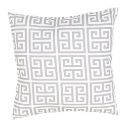 "Jaipur Rugs - Gray/Ivory color polyester towers poly fill pillow 18""x18"" - These fashion forward pillows, in trellis, stripes and whimsical patterns are for both indoor and outdoor use."