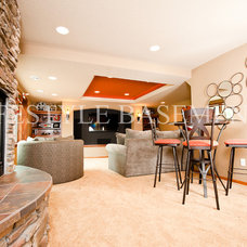 Traditional Family Room by Lifestyle Basements|Kitchens