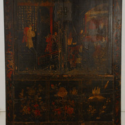 Ming Dynasty Chinese Black Cabinet - Ming Dynasty Chinese Black Cabinet