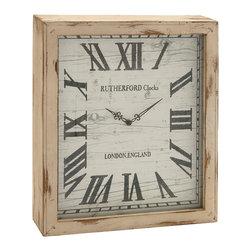 Timelessly Rustic Wood Wall Clock - Description: