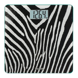"TAYLOR - TAYLOR 755841933B Glass Digital Scale (Black) - � 400lb capacity in 0.2lb increments;� 3.23"" x 1.6"" LCD readout;� 12"" x 12"";� 8mm thick tempered-glass platform;� Instant on;� Auto zero;� Includes 2 AAA batteries;� Black"
