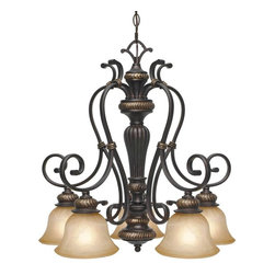 Golden Lighting - EB D5 Tuscan Five Light ChandelierJefferson Collection - Golden Lighting specializes in the design and manufacture of high quality residential lighting products and accessories.