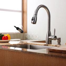 Kraus - Kraus KPF-2130 Stainless Steel Kitchen Faucets Stainless Steel ...