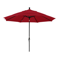 California Umbrella - 11 Foot Sunbrella Aluminum Crank Lift Collar Tilt Market Umbrella, Black Pole - California Umbrella, Inc. has been producing high quality patio umbrellas and frames for over 50-years. The California Umbrella trademark is immediately recognized for its standard in engineering and innovation among all brands in the United States. As a leader in the industry, they strive to provide you with products and service that will satisfy even the most demanding consumers.