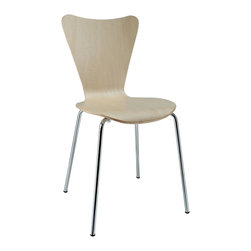 LexMod - Arne Jacobsen Style Series 7 Side Chair in Natural Wood - Minimalist in nature though it may be, this seat doesn't skimp on comfort. Its seemingly rigid design, flexes to the contours of the human body, making it a great side chair for homes and businesses alike.