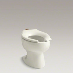 "KOHLER - KOHLER Wellcomme(TM) 1.6 gpf flushometer valve elongated toilet bowl with top in - This Wellcomme elongated toilet bowl is precision-engineered to meet the challenging demands of today's commercial bathrooms. The bowl is constructed of durable vitreous china, and features a 1-1/2"" top spud and four bolt holes in its base."