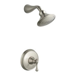 KOHLER - KOHLER K-T16116-4A-BN Revival Rite-Temp Pressure-Balancing Shower Faucet Trim wi - KOHLER K-T16116-4A-BN Revival Rite-Temp Pressure-Balancing Shower Faucet Trim with Traditional Lever Handle in Brushed NickelBlending European style and early American influences, this Revival Rite-Temp pressure-balancing shower faucet trim features a showerarm and traditional lever handle. Elegant accents bring continuity to your room design and a full line of matching accessories complements your decor.KOHLER K-T16116-4A-BN Revival Rite-Temp Pressure-Balancing Shower Faucet Trim with Traditional Lever Handle in Brushed Nickel, Features:• Premium material construction for durability and reliability