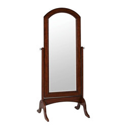 Cooper Classics - Cooper Classics Laurel Cheval Mirror, Rustic Mahogany - Complete a room's decor with the beautiful Laurel Cheval mirror. This lovely beveled cheval mirror features a rustic mahogany finish that will complete any decor.