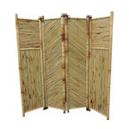 """Master Garden Products - Bamboo Screen, 4 Panels Self Standing, 72""""W x 72""""H - Bamboo screen and room dividers can be used indoors or outdoors in residential or any commercial facilities, to separate an area for privacy or for creating extra room. They can be folded and stored away easily when not in use. We have different designs and sizes to suit your screening needs. Our bamboo screen panels are processed naturally for indoor and outdoor use."""