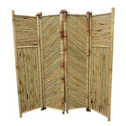 "Master Garden Products - Bamboo Screen, 4 Panels Self Standing, 72""W x 72""H - Bamboo screen and room dividers can be used indoors or outdoors in residential or any commercial facilities, to separate an area for privacy or for creating extra room. They can be folded and stored away easily when not in use. We have different designs and sizes to suit your screening needs. Our bamboo screen panels are processed naturally for indoor and outdoor use."