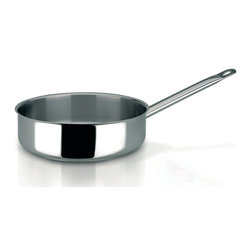 Frieling - Profiserie Saute Pan, 4.9 qt. - Commercial grade thick aluminum core sandwiched between 18/10 stainless steel