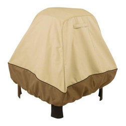 Classic Accessories X-Large Fire Pit Cover - Pebble - Keep your fire pit looking good season after season by protecting it with the X-Large Fire Pit Cover - Pebble. It's made of polyester fabric in a great pebble color with a water-resistant PVC interior. The elastic hem cord with adjustable toggle creates a customized fit for your 36-inch fire pit. Air vents reduce condensation and wind lofting while the sturdy handle makes it easy to remove. Protect your investment in style. Dimensions: 36L x 36W x 30H inches. About Classic AccessoriesFounded from small beginnings Classic Accessories has grown in the past 30 years from a small basement operation in Seattle's Roosevelt neighborhood making seatbelt pads and steering wheel covers to a successful and expanding company now making a wide variety of products from car to boat covers and much more. Innovative stylish designs define products that are functional and made to last. From little details to the largest innovations Classic Accessories is always moving forward and looking to provide cover and storage solutions to a clientele that has a passion for the outdoors from backyard gatherings to exciting camping trips Classic Accessories provides the products that keeps your equipment looking great all season long.