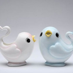 ATD - 3.75 Inch Pale Blue Bird Sugar Bowl and Pale Pink Bird Creamer Set - This gorgeous 3.75 Inch Pale Blue Bird Sugar Bowl and Pale Pink Bird Creamer Set has the finest details and highest quality you will find anywhere! 3.75 Inch Pale Blue Bird Sugar Bowl and Pale Pink Bird Creamer Set is truly remarkable.