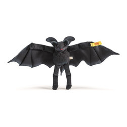 Steiff - Steiff Flaps Bat - Steiff Flaps Bat is made of cuddly soft black plush. Machine washable. Ages 3 and up. Handmade by Steiff of Germany.