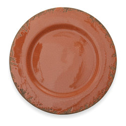 """Arte Italica - Scavo Crackled Rust Charger, Set of 4 - Add old world charm to any room or table with this Scavo charger. The distressed finish gives the look of an age-old vessel from generations passed. Italian ceramic. Handmade in Italy. Not food safe. As with all handmade items, slight differences in color or size are to be expected. These differences highlight the one-of-a-kind nature of handmade products and do not constitute defect. Not food safe. Hand wash only. Dimensions: 14"""" D"""