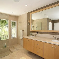 Modern Tile Bath remodel carmel valley