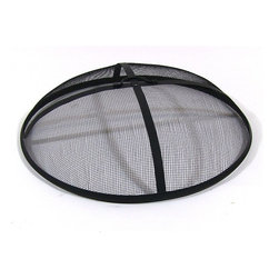 Fire Pit Screen - If your fire pit is a wood burner then you must have have a fire pit screen. Wood fire are fantastic, with all the cracking and flying embers they produce a spectacular show.