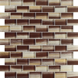 Zephyr Bulgarian Rose Brown Glossy Bricks Pattern Glass Mosaic Tiles, Sheet - 1 in. x 2 in. Zephyr Bulgarian Rose Brown Mesh-Mounted Bricks Pattern Glass Mosaic Tile is a great way to enhance your decor with a traditional aesthetic touch. This Glossy Mosaic Tile is constructed from durable, impervious Glass material, comes in a smooth, unglazed finish and is suitable for installation on floors, walls and countertops in commercial and residential spaces such as bathrooms and kitchens.