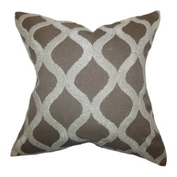 The Pillow Collection - Katell Geometric Pillow Brown - Create a sophisticated decor look in your home by adding this appealing throw pillow to your collection. This accent pillow features a unique geometric pattern in a metallic hue set against a brown background. Pair this toss pillow with solids and other patterns for a lovely living space. Made of 100% soft polyester material.