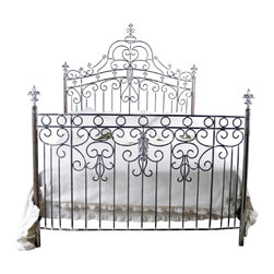 Corsican - Custom Princess Bed, King - Corsican has been in business over 40 years. Their entire focus is making wrought iron furniture. Many of their skilled craftsman are second generation.