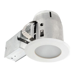 Globe Electric - Globe Electric Recessed Lighting 4 in. White Recessed Shower Light Fixture Kit - Shop for Lighting & Ceiling Fans at The Home Depot. Quick and Easy Installation: includes extra-wide patented clips that grip uneven holes and surfaces to secure effortlessly into position. Superior fit for a smarter faster installation. Globe recessed light fixtures are the ideal choice for showers; light illuminates wide areas. This shower can recessed light fixture includes frosted convex glass.